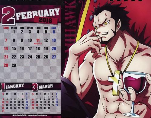 Eiichiro Oda, Toei Animation, One Piece, One Piece Body Calendar 2016, Dracule Mihawk