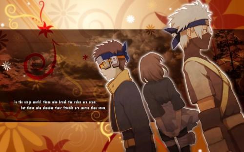 Masashi Kishimoto, Studio Pierrot, Naruto, Rin Nohara, Kakashi Hatake Wallpaper