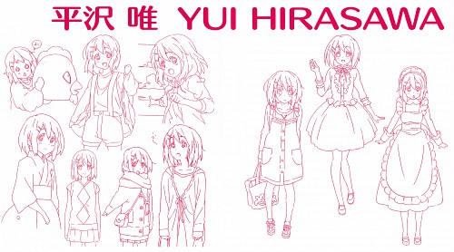 Kakifly, Kyoto Animation, K-On!, Yui Hirasawa, Character Sheet