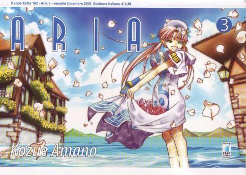 Kozue Amano, Aria, Akari Mizunashi, Manga Cover