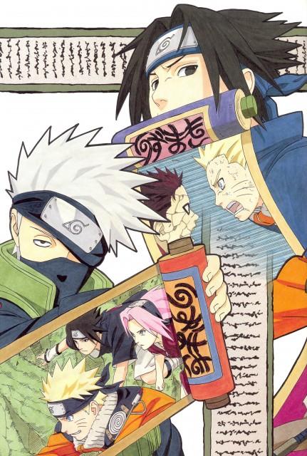 Masashi Kishimoto, Naruto, NARUTO Illustrations, Sasuke Uchiha, Gaara