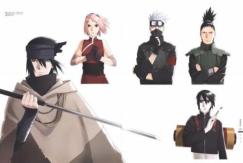 Naruto, The Art of Tetsuya Nishio: Full Spectrum, Shikamaru Nara, Kakashi Hatake, Sakura Haruno