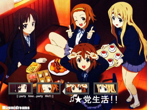 Kakifly, Kyoto Animation, K-On!, Mio Akiyama, Tsumugi Kotobuki Wallpaper