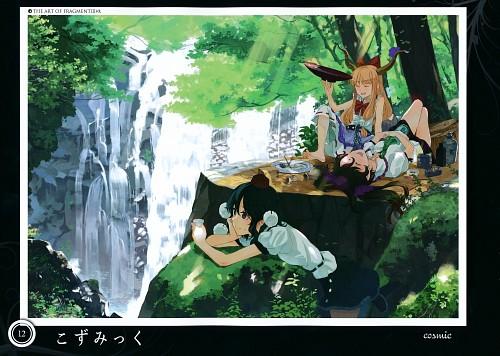 cosmic (Mangaka), Touhou Project Tribute Arts - Fragment 3, Touhou, Aya Shameimaru, Suika Ibuki