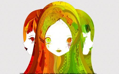 Chiho Aoshima, Vector Art Wallpaper
