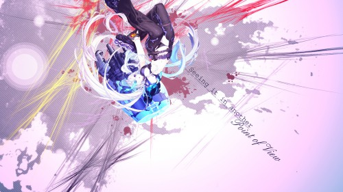 huke, Unaji, Black Rock Shooter, Vocaloid, Black Rock Shooter (Character) Wallpaper
