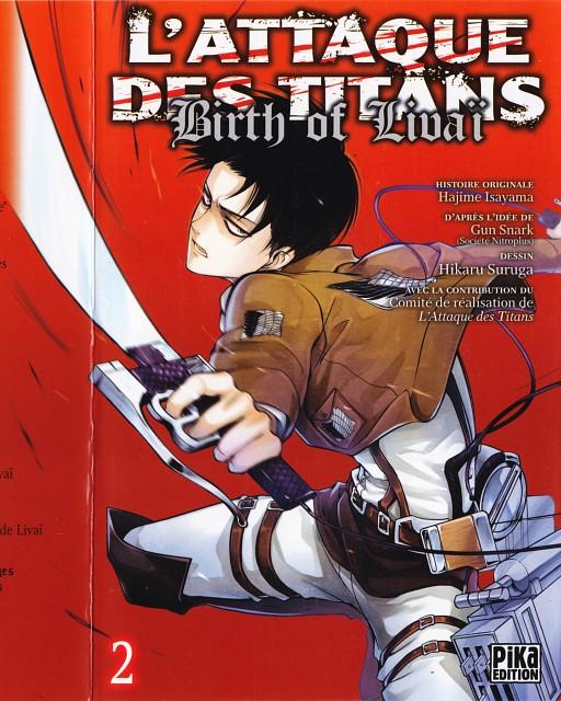 Hikaru Suruga, Shingeki no Kyojin, Levi Ackerman, Manga Cover