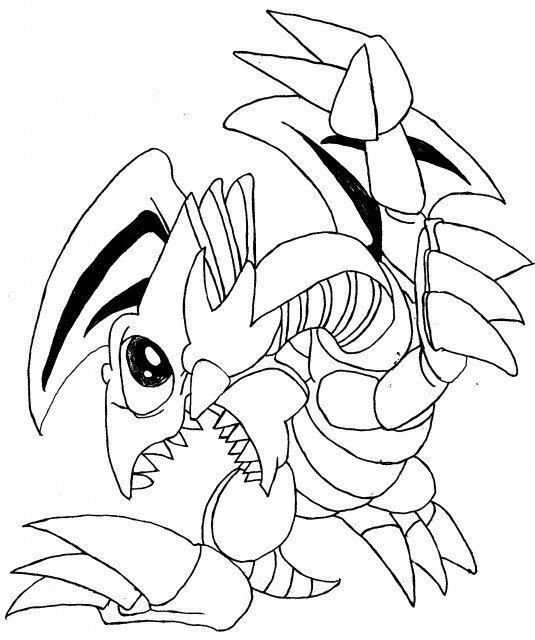 Character Drawings Portraits And Monsters: Yu-Gi-Oh Duel Monsters: Blue Eyes Toon Dragon