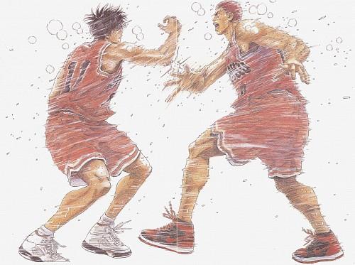Takehiko Inoue, Slam Dunk, Inoue Takehiko Illustrations, Kaede Rukawa, Hanamichi Sakuragi