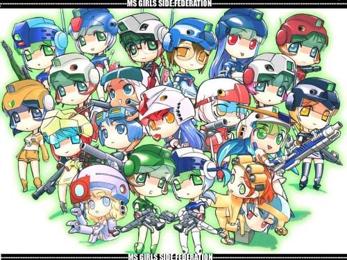 Sunrise (Studio), Mobile Suit Gundam MS Girls Wallpaper