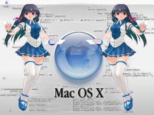 OS-tan, Mac OSX-tan, Windows XP-tan Wallpaper