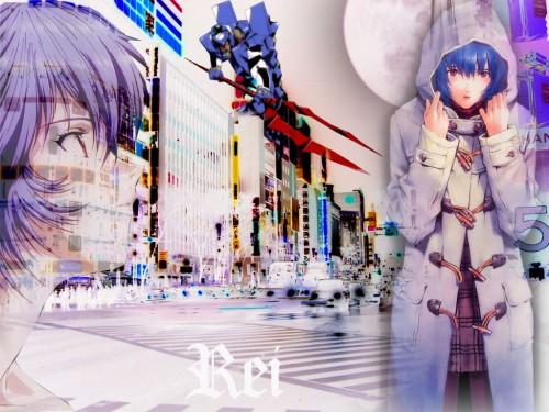 Neon Genesis Evangelion Wallpaper Rei In The City
