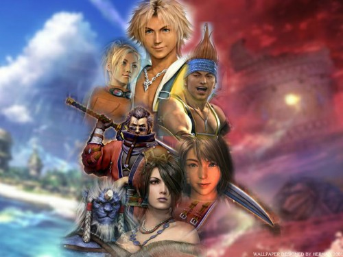 Square Enix, Final Fantasy X, Lulu, Yuna, Auron Wallpaper