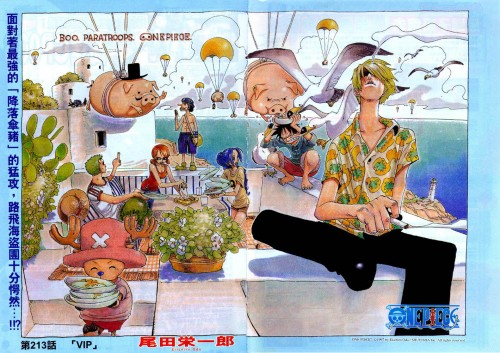 Eiichiro Oda, One Piece, Color Walk 3 - Lion, Roronoa Zoro, Usopp