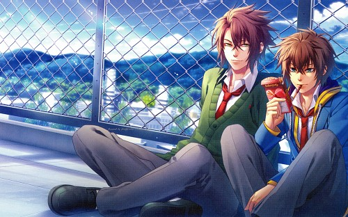 Idea Factory, Studio DEEN, Hakuouki Sweet School Life Official Fan Book, Hakuouki Sweet School Life, Heisuke Toudou (Hakuouki)