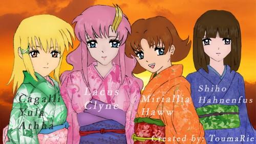 Sunrise (Studio), Mobile Suit Gundam SEED Destiny, Miriallia Haw, Shiho Hahnenfuss, Lacus Clyne