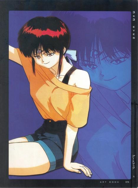 Yuzo Takada, Toei Animation, 3x3 Eyes, Girls - Artbook VI, Pai (3x3 Eyes)