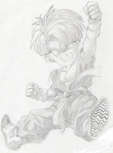 Akira Toriyama, Dragon Ball, Trunks, Member Art