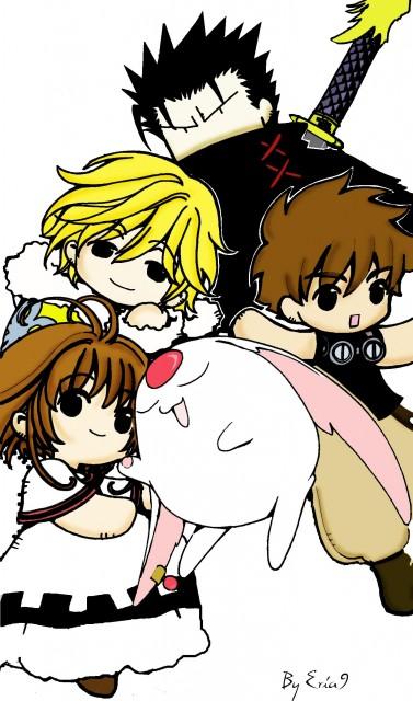 Tsubasa Reservoir Chronicle, Syaoran Li, Sakura Kinomoto, Kurogane, Fay D. Flourite