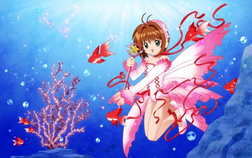 CLAMP, Madhouse, Cardcaptor Sakura, Sakura Kinomoto, Vector Art Wallpaper