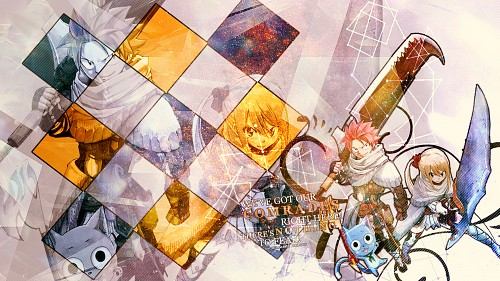 Hiro Mashima, Satelight, Fairy Tail, Natsu Dragneel, Happy (Fairy Tail) Wallpaper