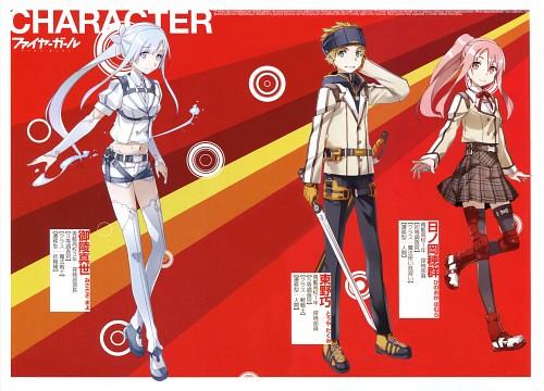 BUNBUN, TYPE-MOON, Fire Girl, Takumi Touya, Homura Hinooka