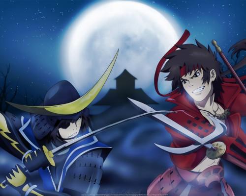 Capcom, Sengoku Basara, Masamune Date, Yukimura Sanada Wallpaper