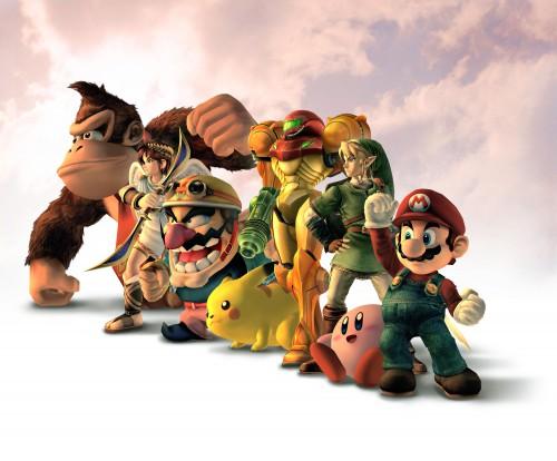 Nintendo, Super Smash Bros. Brawl, Pikachu, Mario (Character), Pit (Kid Icarus)