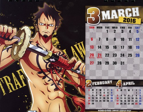 Eiichiro Oda, Toei Animation, One Piece, One Piece Body Calendar 2016, Trafalgar Law