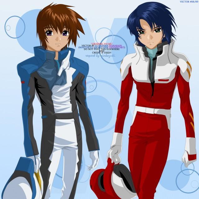 Sunrise (Studio), Mobile Suit Gundam SEED, Kira Yamato, Athrun Zala, Vector Art