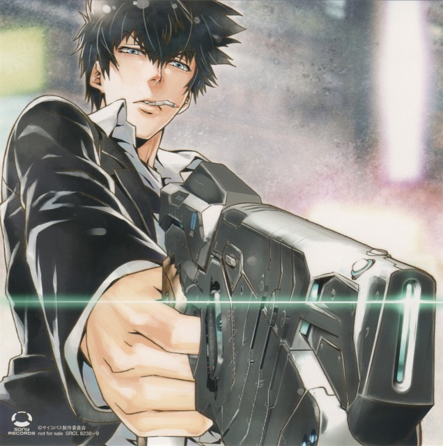 Production I.G, PSYCHO-PASS, Shinya Kougami, Postcard, Album Cover
