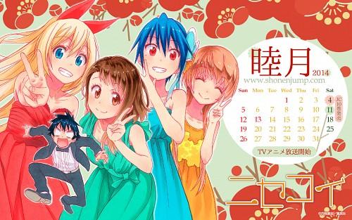 Komi Naoshi, Nisekoi, Chitoge Kirisaki, Marika Tachibana, Tsugumi Seishiro