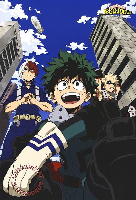 Kouhei Horikoshi, BONES, Boku no Hero Academia, Izuku Midoriya, Shouto Todoroki