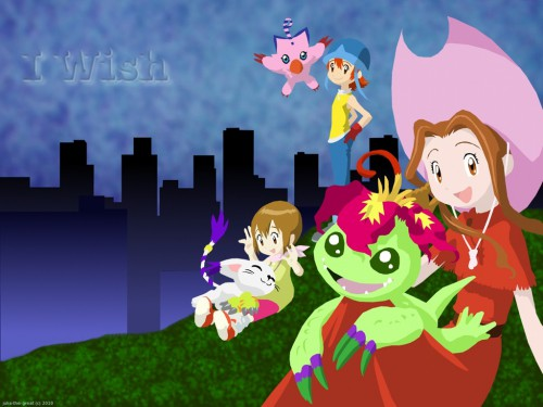 Toei Animation, Digimon Adventure, Hikari Yagami, Sora Takenouchi, Mimi Tachikawa Wallpaper