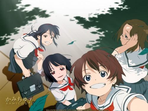 Brains Base, Kamichu, Yurie Hitotsubashi, Miko Saegusa, Mitsue Shijo Wallpaper