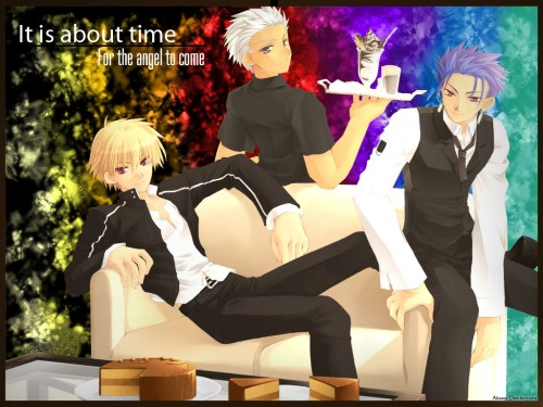 TYPE-MOON, Fate/stay night, Archer (Fate/stay night), Lancer (Fate/stay night), Gilgamesh (Fate/stay night) Wallpaper