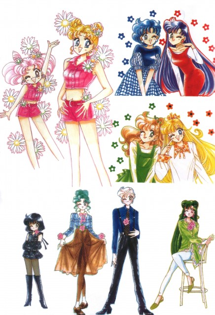Naoko Takeuchi, Bishoujo Senshi Sailor Moon, BSSM Original Picture Collection Vol. IV, Haruka Tenoh, Minako Aino