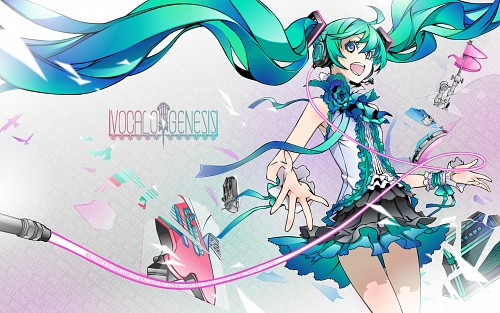 Miwa Shirow, Vocaloid, Miku Hatsune, Vector Art Wallpaper