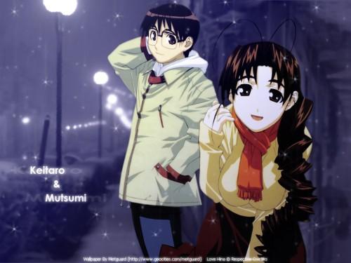 Ken Akamatsu, Love Hina, Keitaro Urashima, Mutsumi Otohime Wallpaper