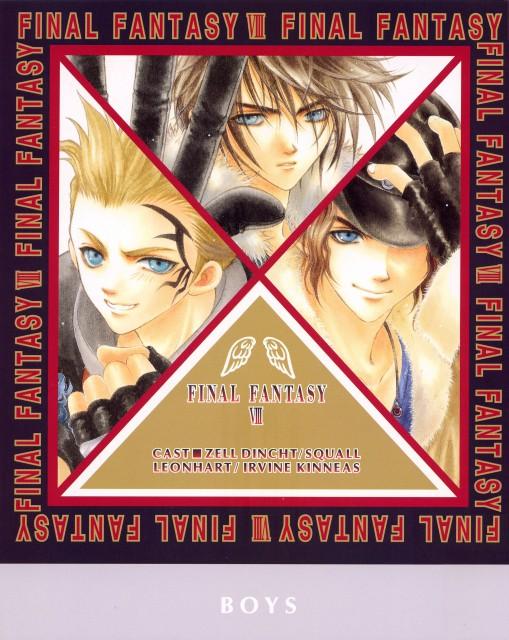 Adumi Tohru, Final Fantasy VIII, Zell Dincht, Squall Leonhart, Irvine Kinneas