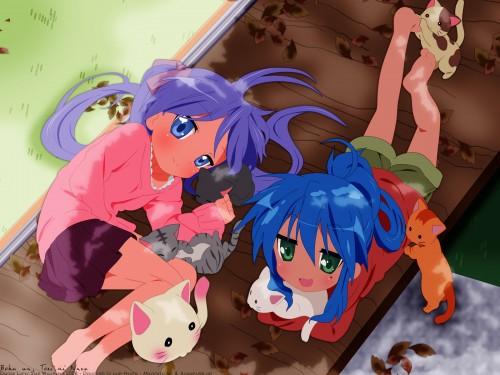 Lucky Star, Konata Izumi, Kagami Hiiragi Wallpaper