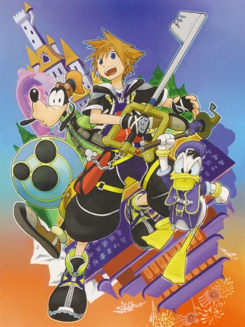 Shiro Amano, Kingdom Hearts, Sora, Goofy, Donald Duck
