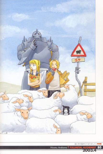 Hiromu Arakawa, Fullmetal Alchemist, Fullmetal Alchemist Artbook Vol. 1, Den, Winry Rockbell