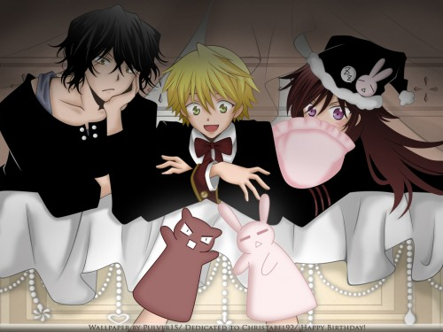 Jun Mochizuki, Pandora Hearts, Oz Vessalius, Gilbert Nightray, Alice Wallpaper