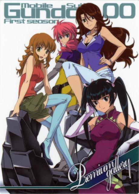 Mobile Suit Gundam 00, Feldt Grace, Sumeragi Lee Noriega, Christina Sierra, Wang Liu Mei
