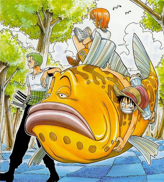 Eiichiro Oda, One Piece, Color Walk 1, Monkey D. Luffy, Nami