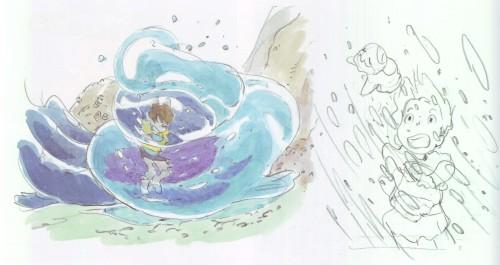 Hayao Miyazaki, Studio Ghibli, Gake no Ue no Ponyo, The Art of - Ponyo, Sosuke