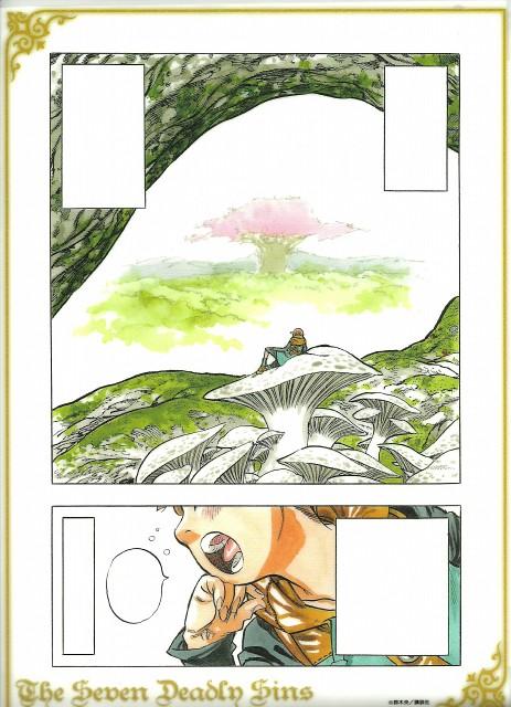 Nakaba Suzuki, A-1 Pictures, Nanatsu no Taizai, King (Nanatsu no Taizai), Manga Panels