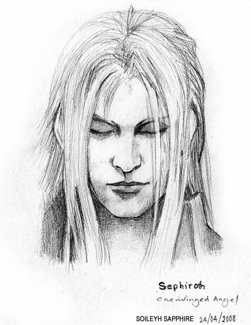 Final Fantasy VII: Advent Children, Final Fantasy VII, Sephiroth, Member Art