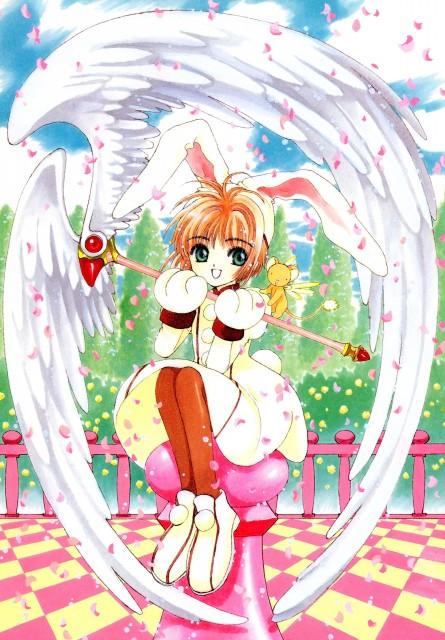 CLAMP, Cardcaptor Sakura, Cardcaptor Sakura Illustrations Collection 1, Sakura Kinomoto, Keroberos